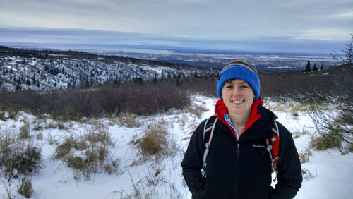 Hiking in the Chugach mountains outside Anchorage